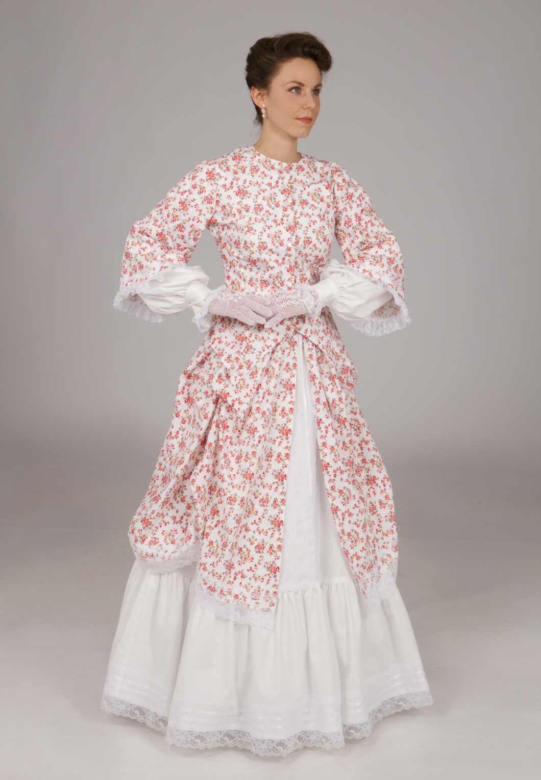 Victorian civil war style set recollections for Old west wedding dresses