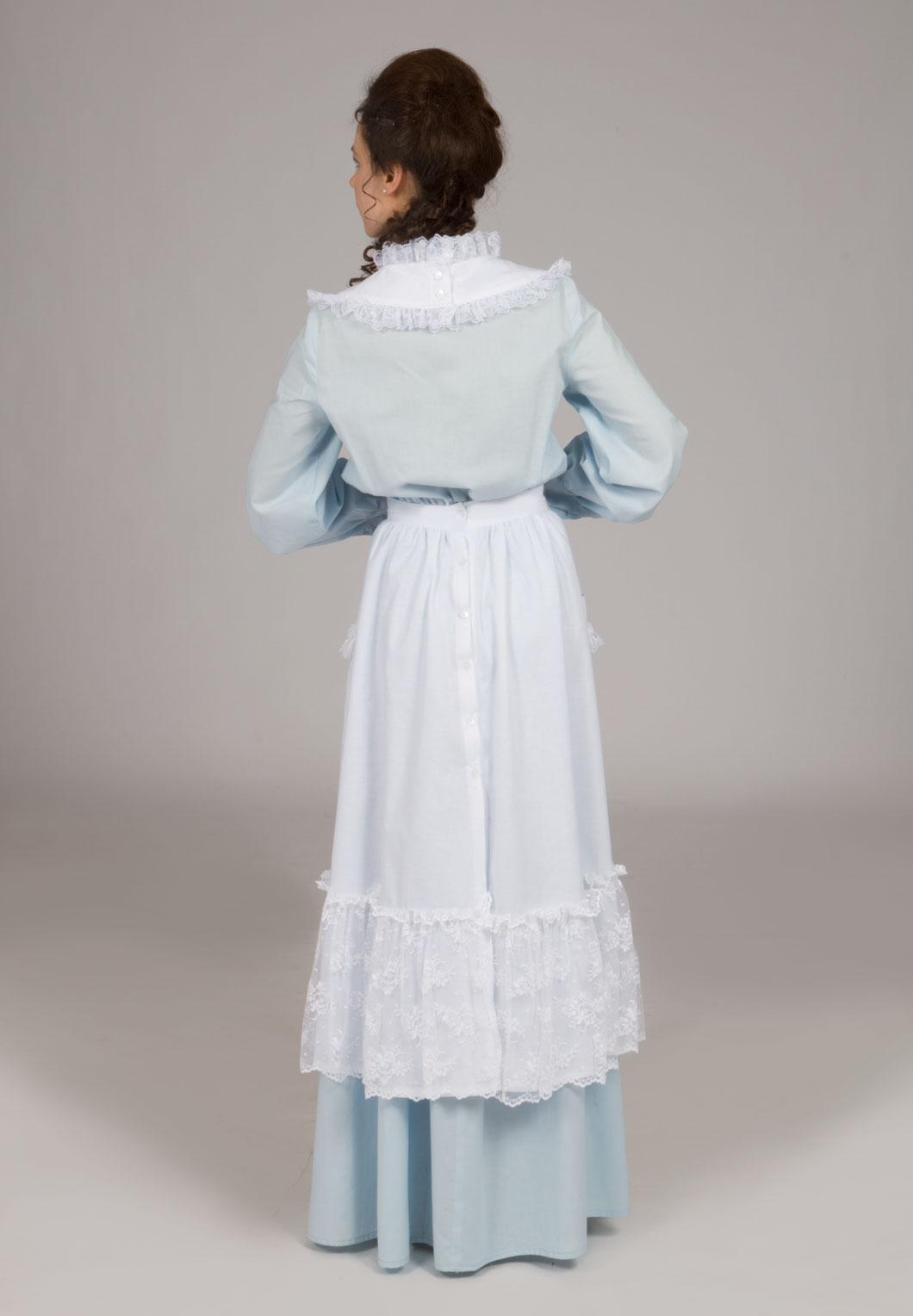 Edwardian white apron - Victorian Edwardian Apron