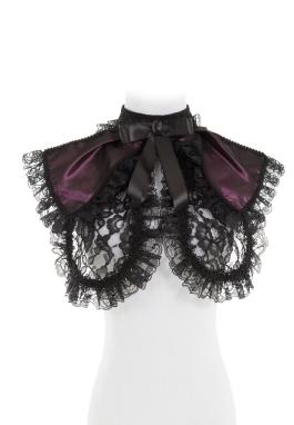 Lacy Taffeta Collar