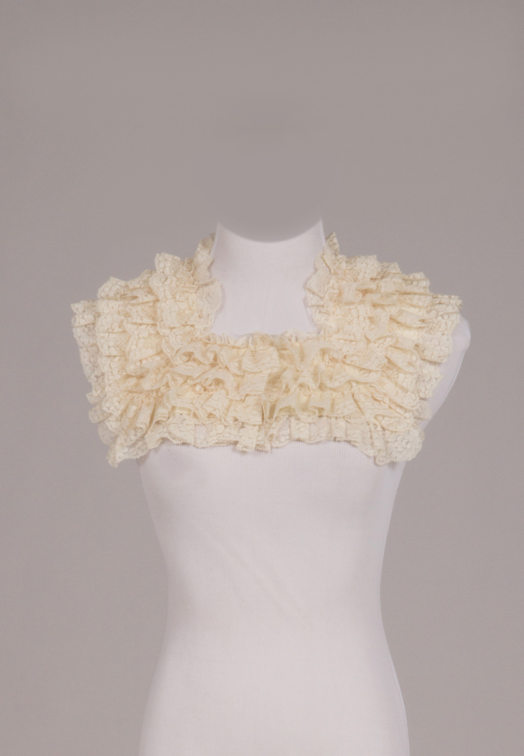 Ruffled Lace Victorian Collar