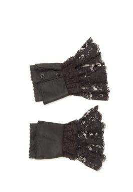 Lacy Acetate Taffeta Cuffs