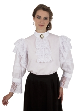 White Batiste Edwardian Blouse