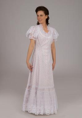 Clearance Edwardian Cotton Lacy Dress - Size XS