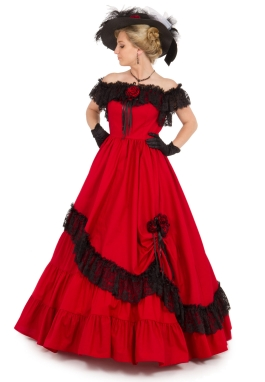Victorian Civil War Styled Ball Gown