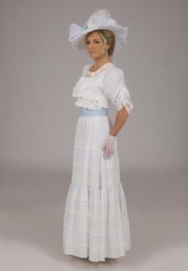 White Edwardian Batiste Dress
