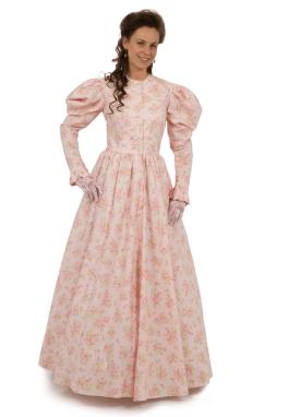 Full Print Victorian Dress