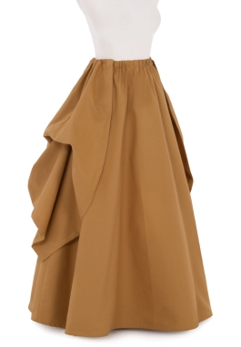 Twill Victorian Style Skirt and Overskirt