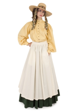 Pioneer Blouse, Apron and Skirt