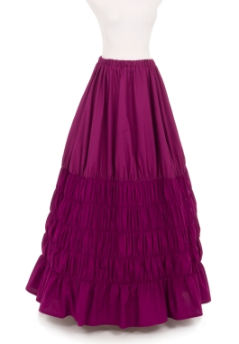 Victorian Cotton Ruching Skirt