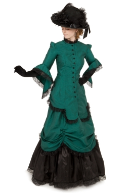 Corrina Victorian Silk Bustle Dress