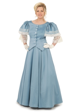 Blue Victorian Styled Ensemble