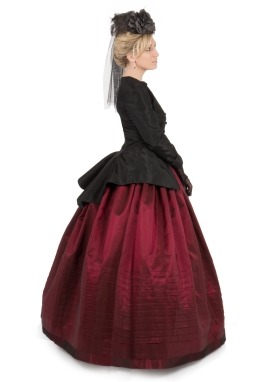 Black Taffeta Jacket and Skirt