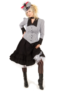Steampunk Stripe Jacket and Skirt
