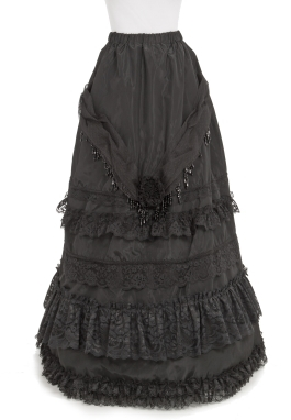 Decorated Victorian Taffeta Skirt