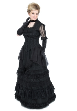 Victorian Lace and Taffeta Dress