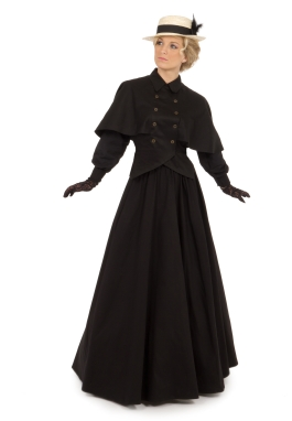 Edwardian Twill Cape Blouse and Skirt