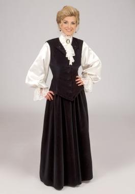 Edwardian Vest, Blouse, Skirt Set
