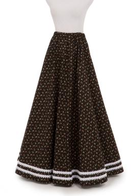 Braid Trimmed Victorian Skirt