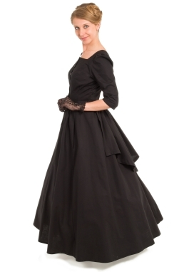 Victorian Bustle Style Cotton Dress