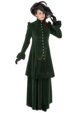 Victorian Velvet Long Jacket Suit
