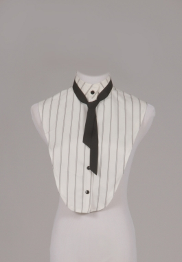 Ivory Pinstripe Chemisette and Tie