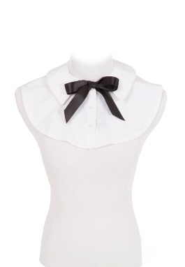 White Cotton Collar and  Tie