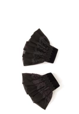 Black Bobbinette Cuffs