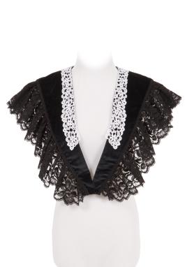 Black Velvet Fichu