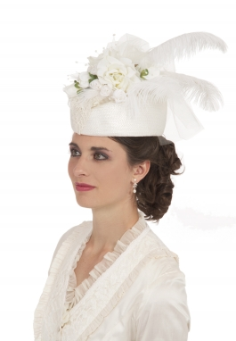 Ivory Roses Victorian Hat
