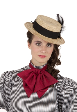 Gibson Girl Victorian Straw Hat