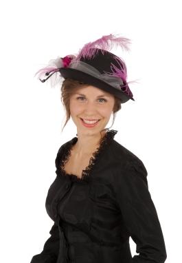 Black Bowler Victorian Hat
