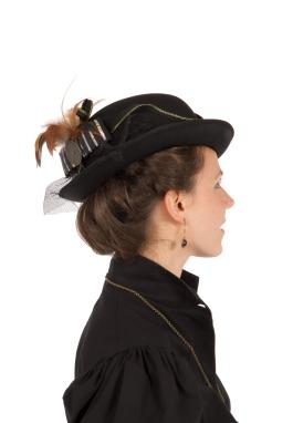Steampunk Victorian Silk Derby