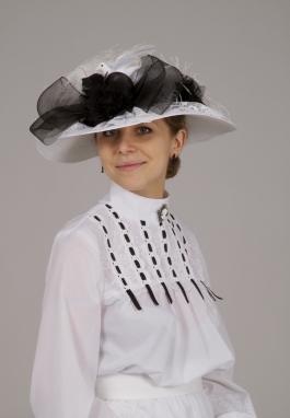 Black and White Edwardian Hat