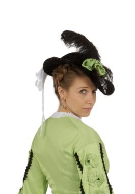 Margaret Black Velvet Victorian Hat