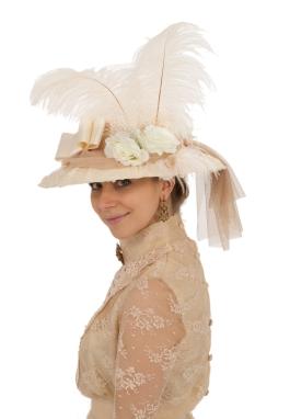 Natasha Antique Lace Edwardian Hat