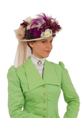 Fern Edwardian Straw Hat