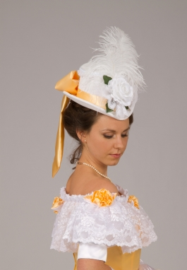 Satin Trimmed Victorian Perch Hat