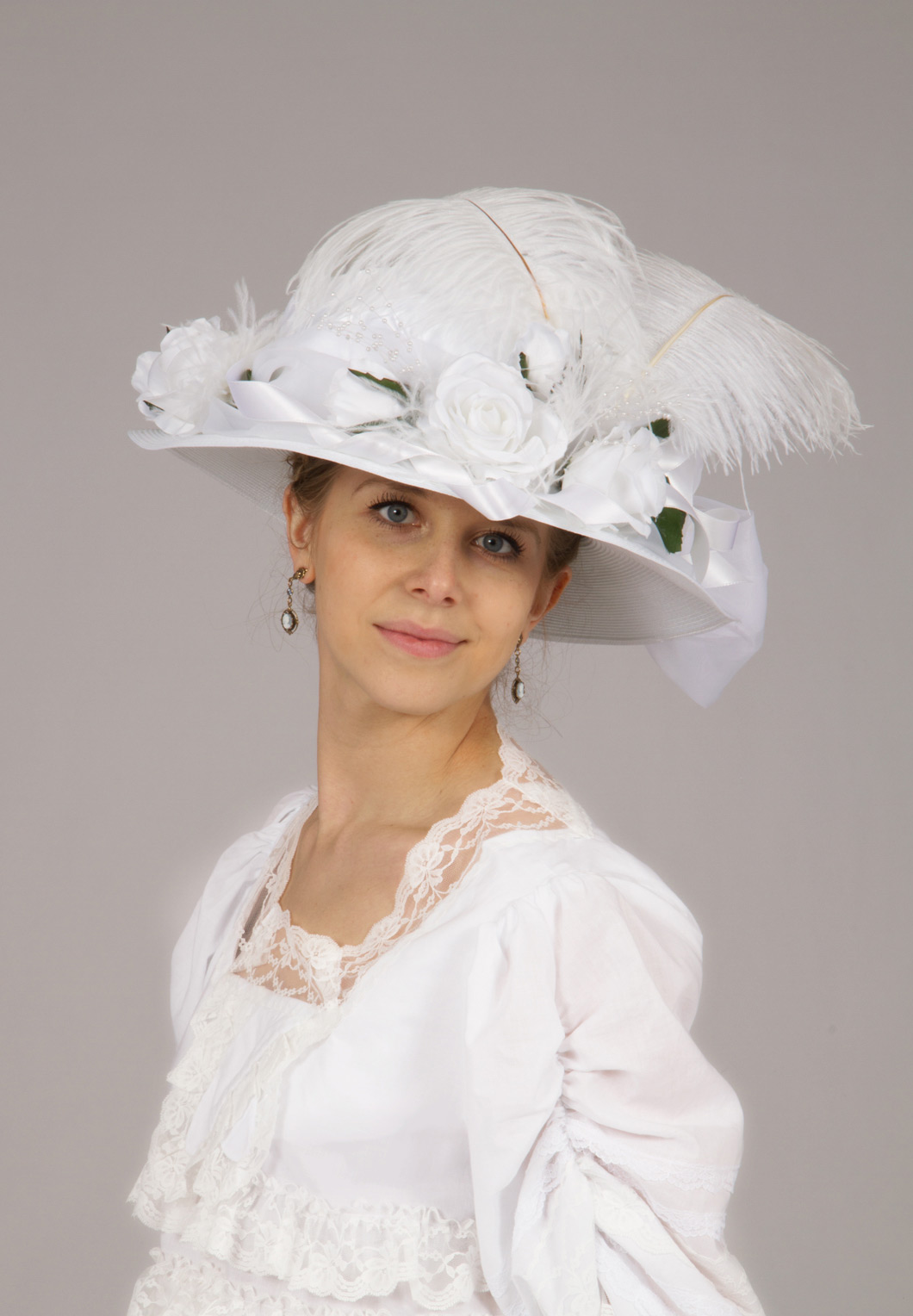 Lura Edwardian White Hat