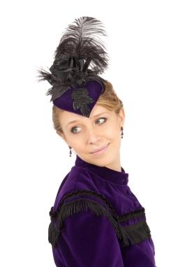 Lucretia Velvet Victorian Hat