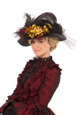 Black Edwardian Hat