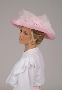Pink Edwardian Hat