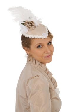 Ursula Victorian Taffeta Teardrop Hat