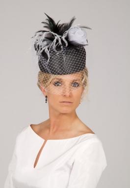 Clearance 50's Black & White Retro Hat