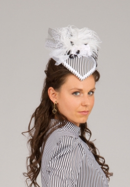 Black and White Stripe Hat