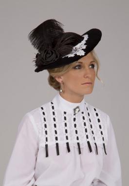 Marta Black and White Hat