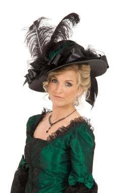 Taffeta Victorian Edwardian Hat