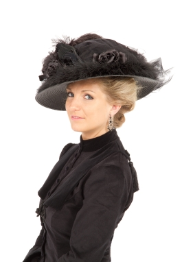 Black Edwardian Hat