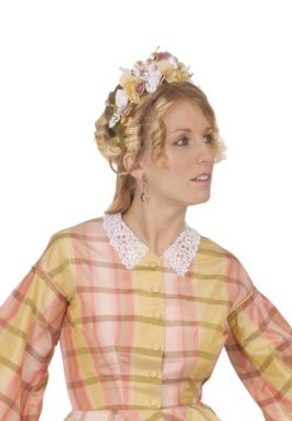 Victorian Civil War Floral Headpiece