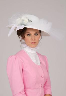 White Edwardian Hat