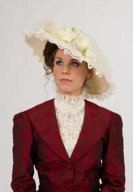 Ivory Edwardian Hat
